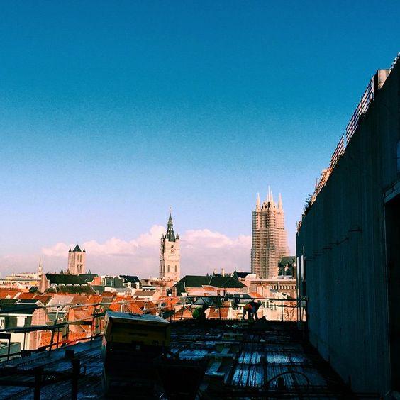 by rcallewaert: Op de hoogste verdieping van de nieuwe bibliotheek #krook #gent #visitgent