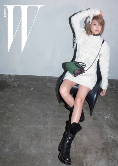 """Sooyoung Shows Off Her Short Hair in Stylish Photoshoot with """"W"""" Magazine 