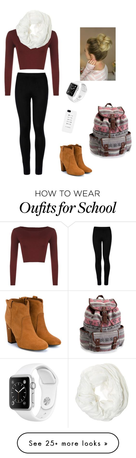 """Friday's school outfit"" by livelikeaangel on Polyvore featuring WearAll, Wolford, Laurence Dacade, Aéropostale and Betsey Johnson"