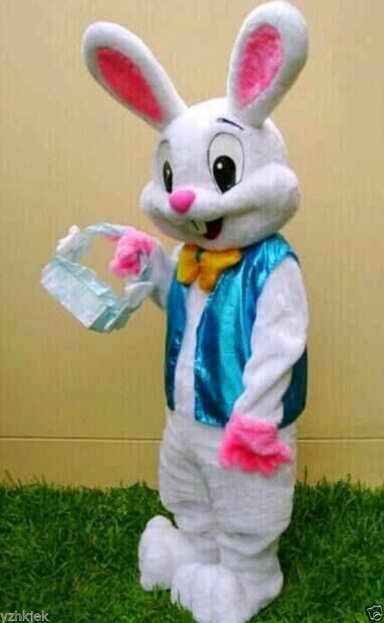 Easter Bunny Mascot costume Rabbit Fancy Party Dress Adult Outfit Suit