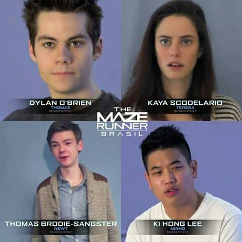 Maze Runner Auditions Dylan O Brien Kaya Scodelario Ki Hong Lee Thomas Brodie Sangster Maze Runner Cast Maze Runner Movie Maze Runner