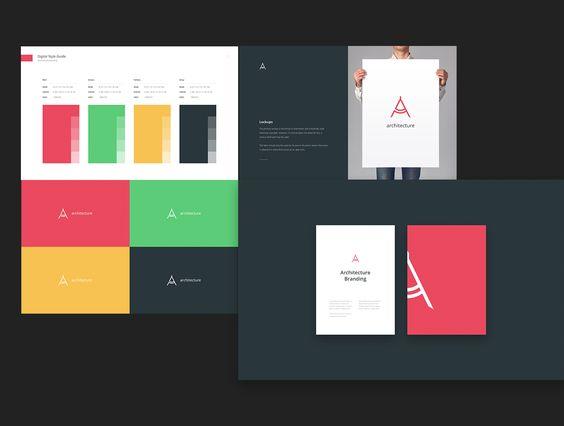 Branding Book & Style Guides http://bit.ly/1RDcO9S #digitalart #graphicdesign #branding #UI #UIdesign #template