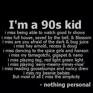Can we go back to the 90's please?