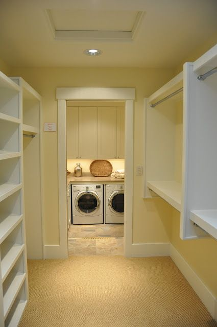 Washer dryer on the other side of the master closet for Master bathroom designs with walk in closets