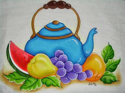 Bule azul 2, pintura