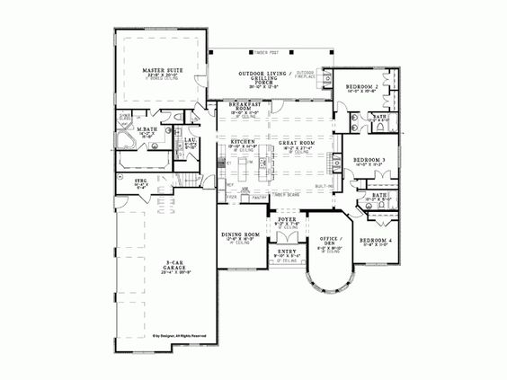 Eplans French Country House Plan - Lovely European Country Castle - 3052 Square Feet and 4 Bedrooms from Eplans - House Plan Code HWEPL73371