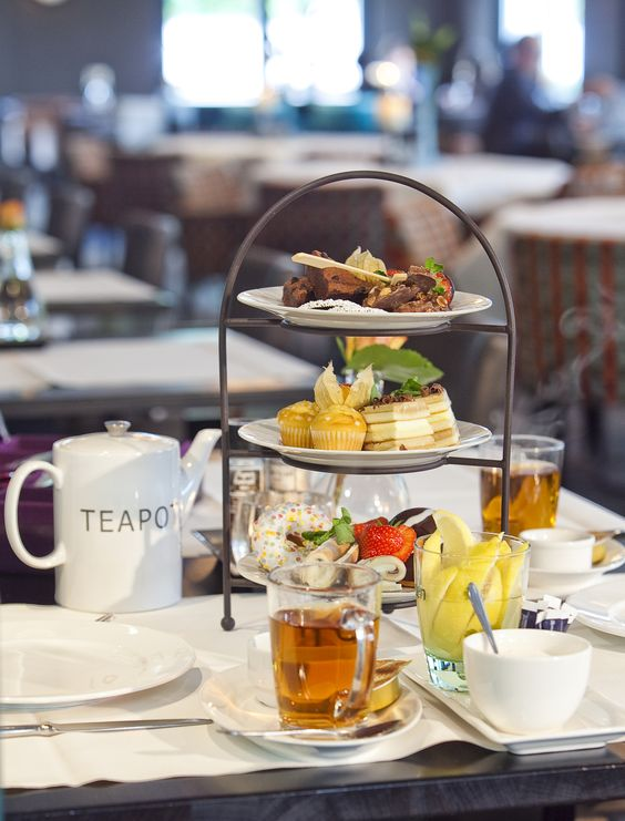 Tea break in de middag