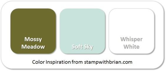 Stampin' Up! Color Inspiration: Mossy Meadow, Soft Sky, Whisper White: