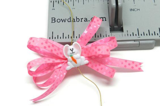 Mini Pink Bunny Bow