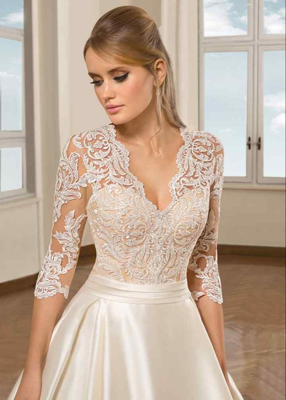 Cosmobella 7895 A-line Wedding Dress by Demetrios - WeddingWire.com