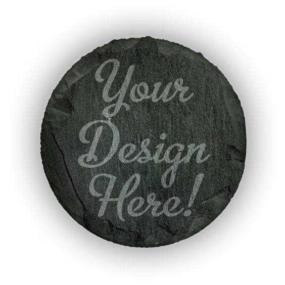 Round Slate Coasters (set of 4)  - Customized