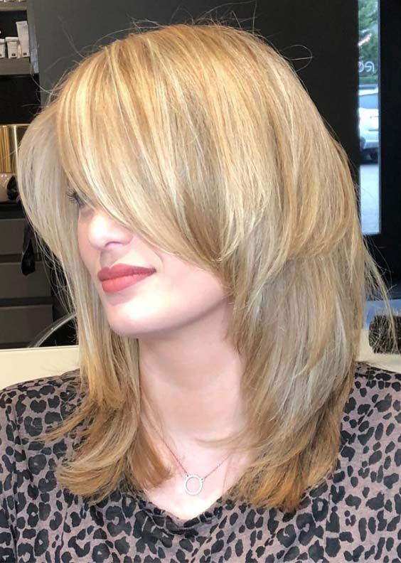30 Best Mid Length Razor Haircuts And Hairstyles 2018 Square Face Hairstyles Medium Hair Styles Haircut For Square Face