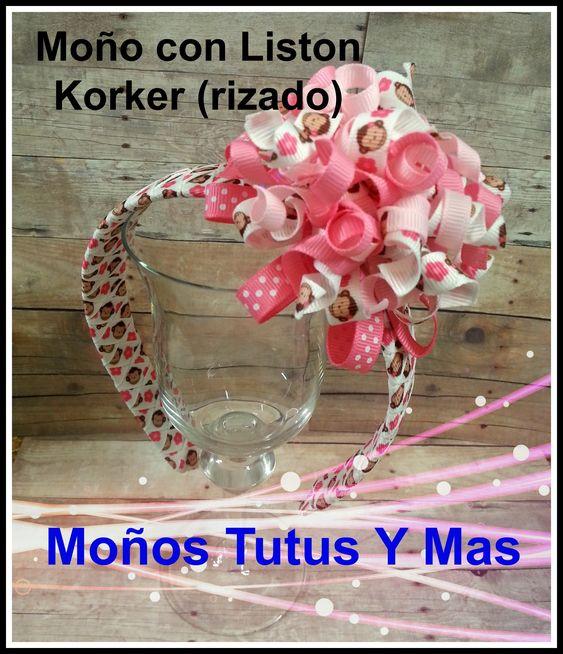 MOñO KORKER con LISTON RIZADO Paso a Paso HOW TO MAKE KORKER BOW Tutoria...