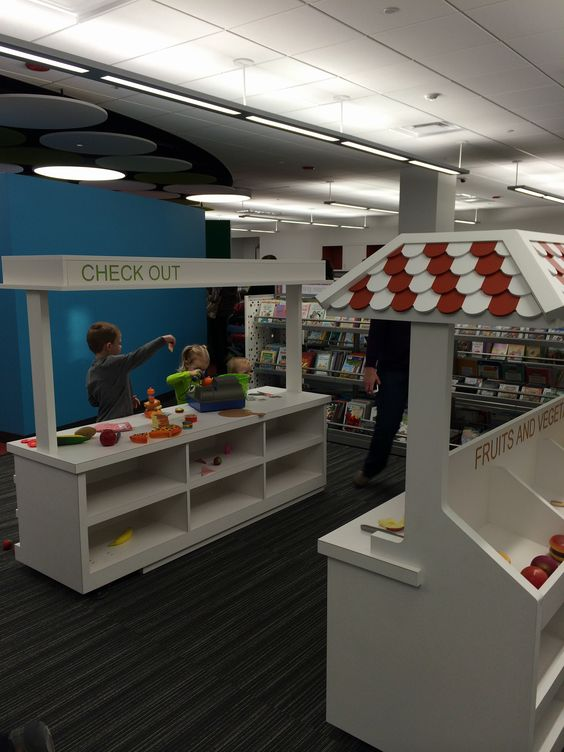 Plays Play Kitchens And Libraries On Pinterest