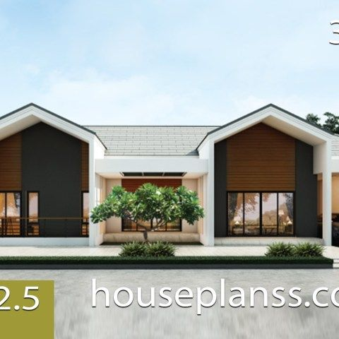 House Plans 7 5x11 With 2 Bedrooms Full Plans House Plans Sam Small House Design Plans Small House Design House Plans