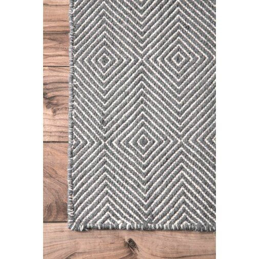 Marcelo Flat Woven Wool Cotton Gray
