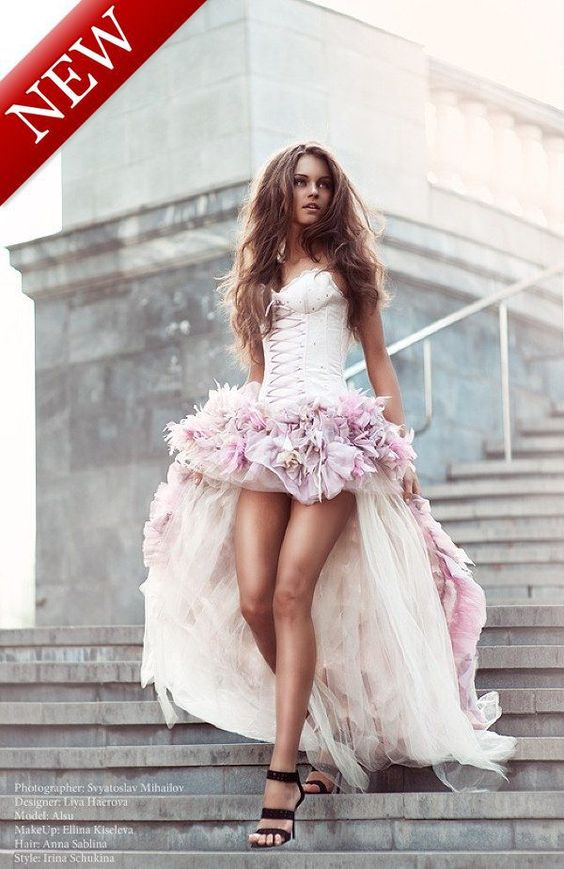 Free Shipping Sweetheart Front Short and Long Back Satin Pink ...
