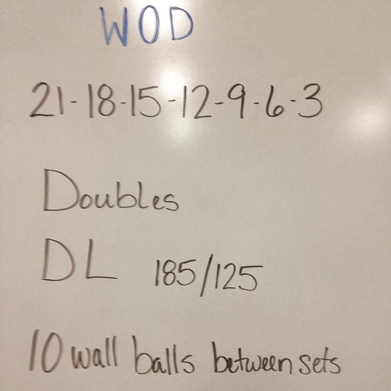 Or how about DL and wall balls with 30 Double unders between sets!