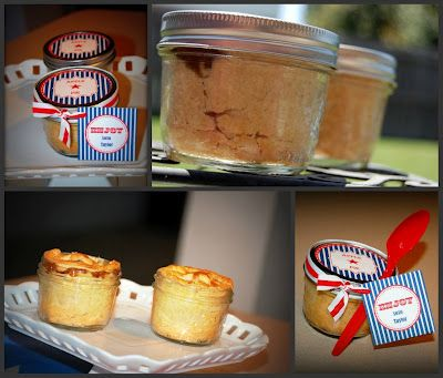 Free Printable Pie in a Jar tags for the Fourth!