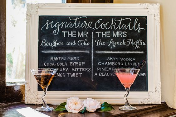 If you're trying to avoid paying for an open bar, consider having his and her cocktails that embody your tastes and personalities instead.