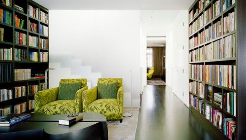West Village Brownstone - contemporary - family room - new york - Billinkoff Architecture PLLC