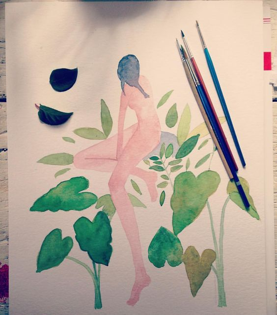 In progress!! #art #artist #hahnemuhle #watercolor #acuareleando #acuarela #draw #drawing #illustration #ilustracion #instaart #instagram #instafollow #instartist #pink  #plants