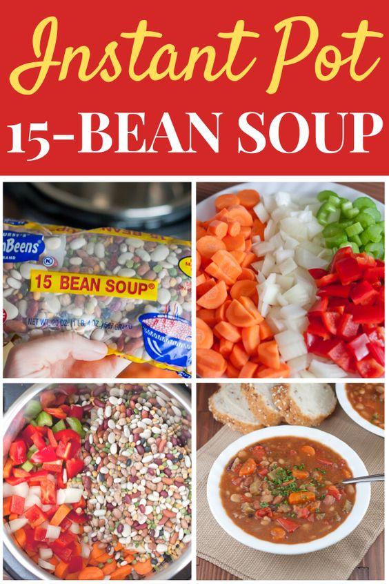 Instant Pot 15 Bean Soup Recipe