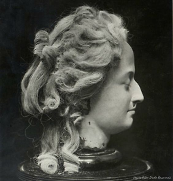 A wax head depicting Marie Antoinette 'after the ...