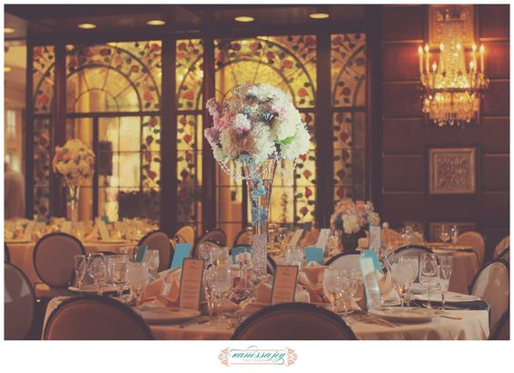 NJ Wedding at The Manor Restaurant, New Jersey, floral centerpieces