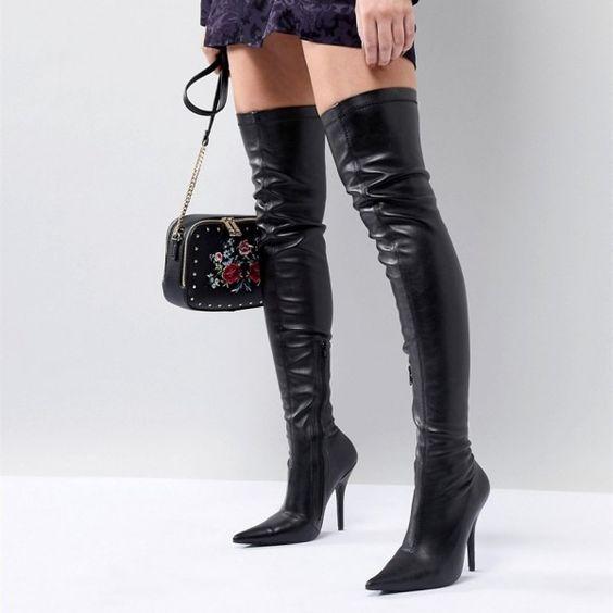 49++ Black thigh high flat boots ideas info