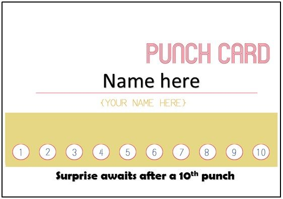 Printable Punch Card Template In Microsoft Word Format With Best Free Business Punch Card Template Fre Loyalty Card Template Customer Loyalty Cards Punch Cards