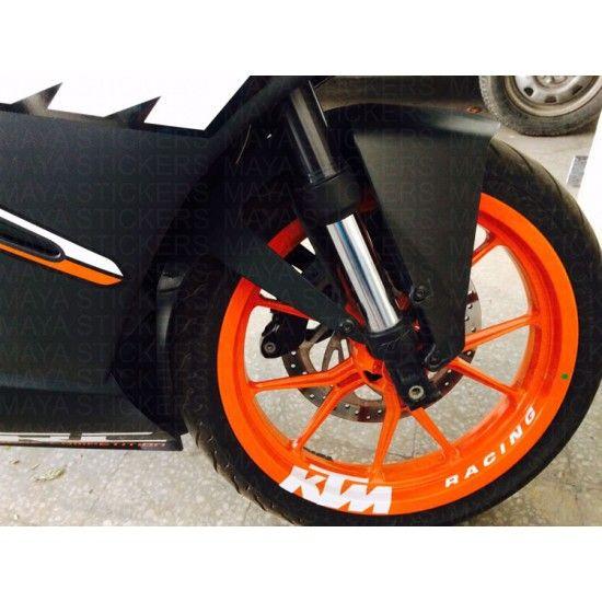 Ktm Racing Wheel Rim Sticker On Ktm Rc 200 Ktm Ktm Rc Racing
