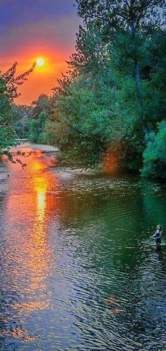 Boise River in Idaho Expression Photography