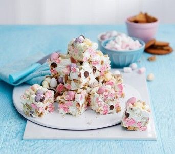 The kids will love helping out with this easy no-bake treat.