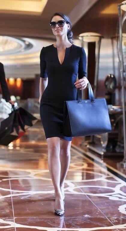 Classical Work Outfit For Winter - FashionActivation Navy bag...  #Classical #FashionActivation #Outfit