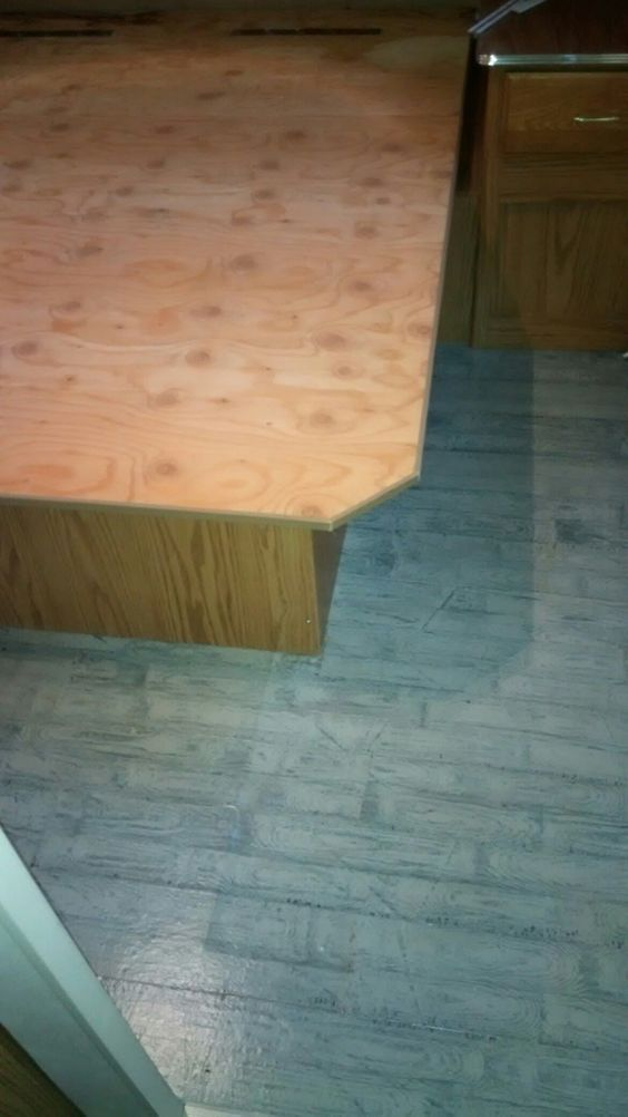 Bed frame down on floor.