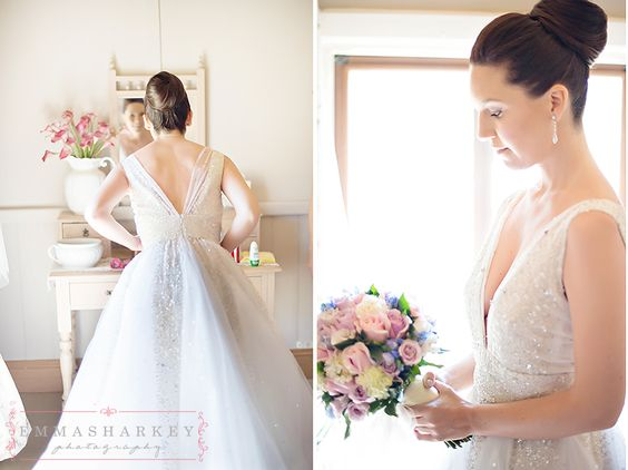 Emma Sharkey Adelaide Wedding Photographer - Bird In Hand Winery  The very stunning Stephanie wearing the most beautiful wedding gown