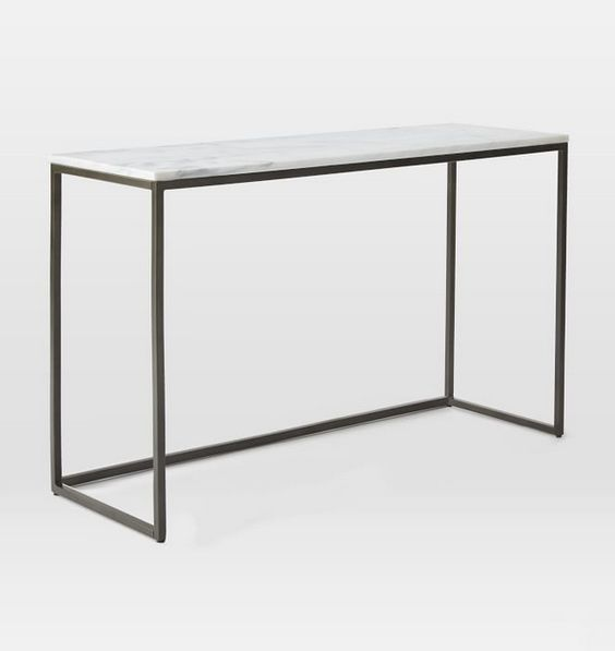 Marble Box Frame Console Table