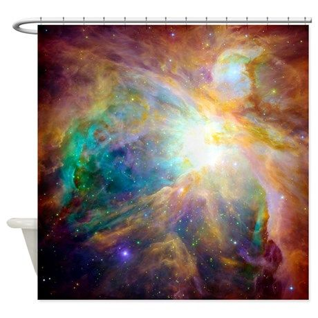 Nebula Space Scence Shower Curtain on CafePress.com