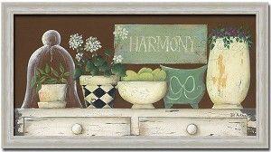 Harmony Shabby Cottage Decor Art Print Framed