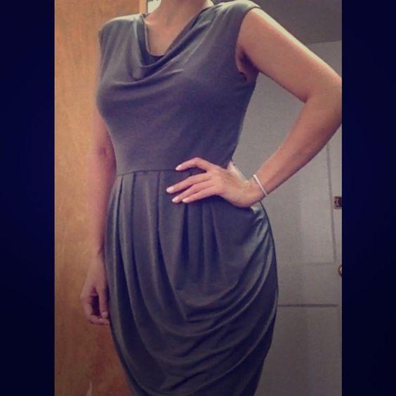 Calvin Klein (small) like new Worn once . Midi dress. Stretch.tree pale green. No belt Calvin Klein Dresses Midi