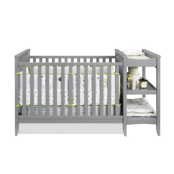 Marley 3 In 1 Convertible Crib Crib Changing Table Combo Crib With Changing Table Cribs