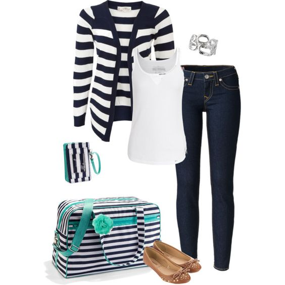"""You can get this bag at  """"thirty one city weekender navy wavy"""" by jade-illeck on Polyvore"""