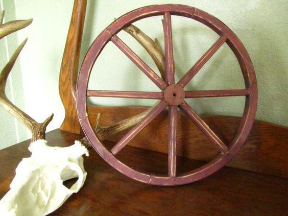 Wagon+wheel+decorative+wheel+wall+by+KarensChicNShabby+on+Etsy,+$39.00