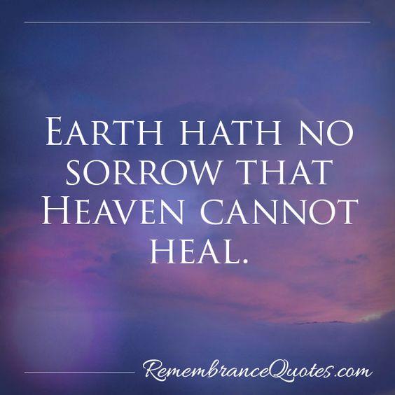 Heaven Healing Sorrow
