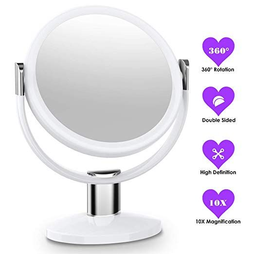 Mtored 10x Magnifying Makeup Mirror Double Sided Makeup Vanity Mirror 360 Degree Swivel Rotation For Home Tabletop Bathroom Travel Review Makeup Mirror Makeup Vanity Mirror Makeup Vanity