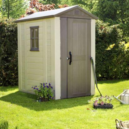 Plastic sheds shed homes and sheds on pinterest for Plastic pent shed