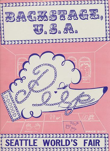 """""""Peep"""" Backstage U.S.A. (Front Cover) - 1962 Seattle World's Fair"""