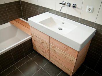 Bad unterschrank holz hängend  Die besten 20+ Waschbeckenunterschrank selber bauen Ideen auf ...