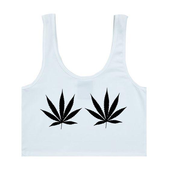 weed cannabis BRA TOP crop t shirt womens girls fun by MLSHOPSS